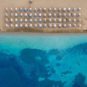 Coral Blue Beach from the air
